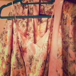 Natori silk satin set. Rose Strap nighty and Robe